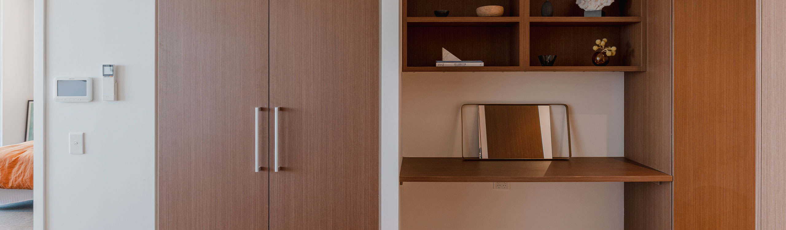 Brown Linen Cupboards by Instyle Wardrobes