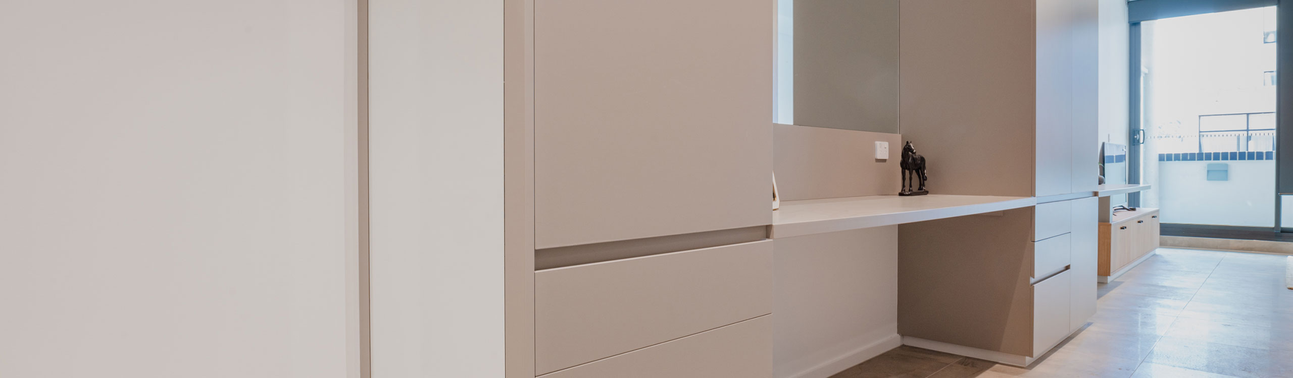 White Single-Shelved Study Desk by Instyle Wardrobes