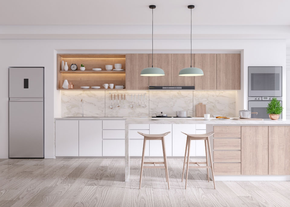 Large Modern Kitchen by Instyle Wardrobes