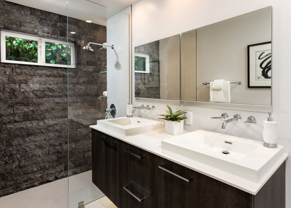 Double Wide Bathroom Mirror by Instyle Wardrobes