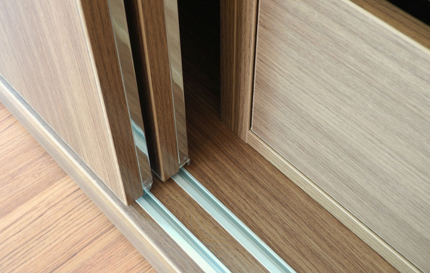 Wheat Wooden Sliding Wardrobe by Instyle Wardrobes