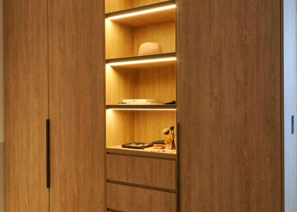 Wooden Wardrobe with Drawers and Shelves by Instyle Wardrobes