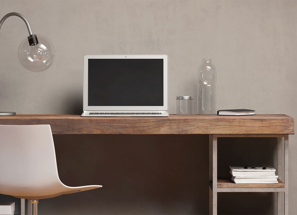 Wooden Study Desk by Instyle Wardrobes